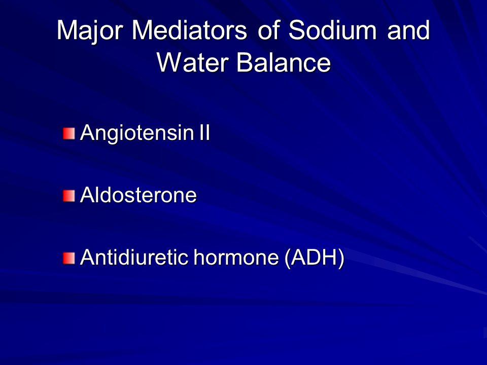 Major Mediators of Sodium and Water Balance