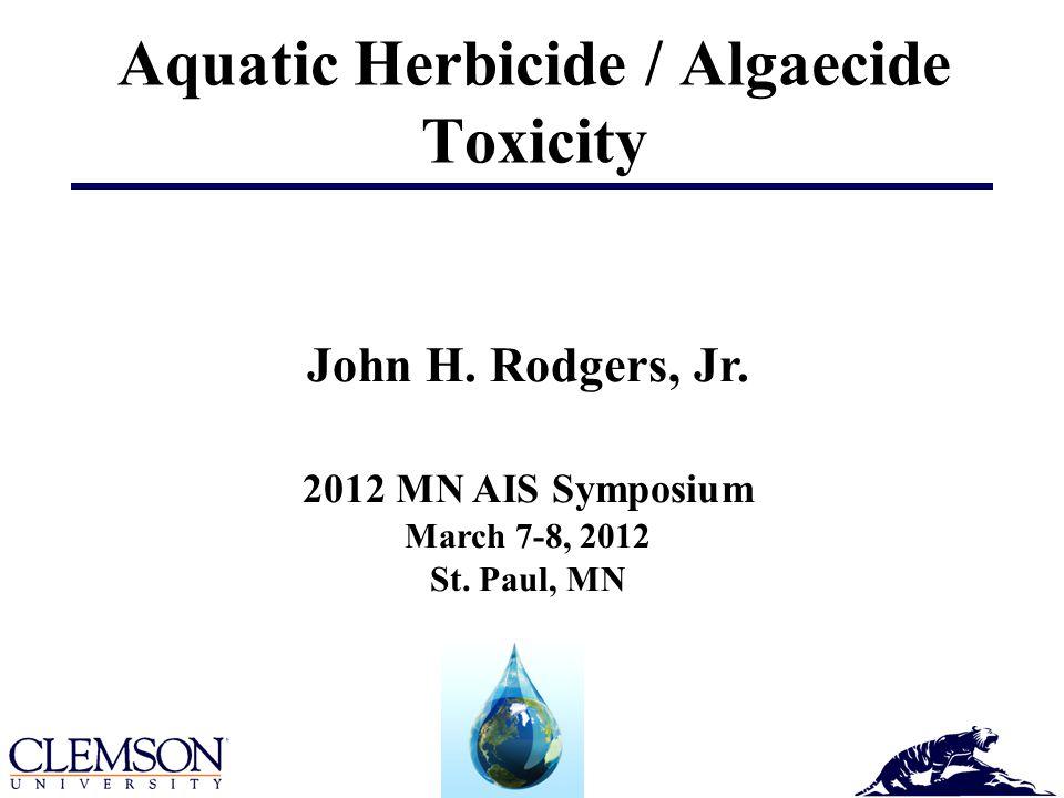 Aquatic Herbicide / Algaecide Toxicity