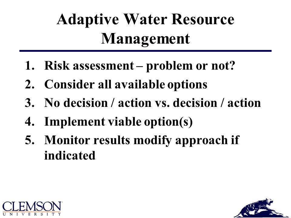Adaptive Water Resource Management