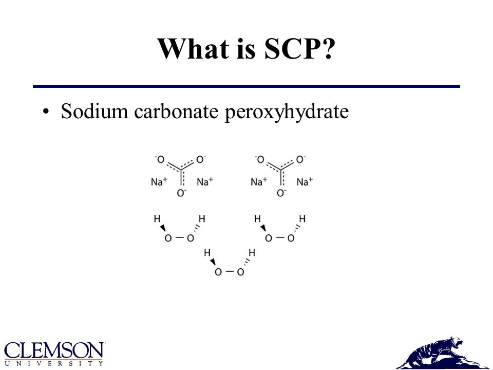 What is SCP Sodium carbonate peroxyhydrate