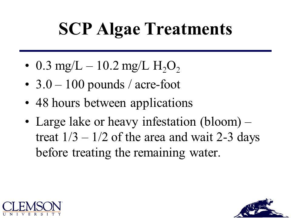 SCP Algae Treatments 0.3 mg/L – 10.2 mg/L H2O2