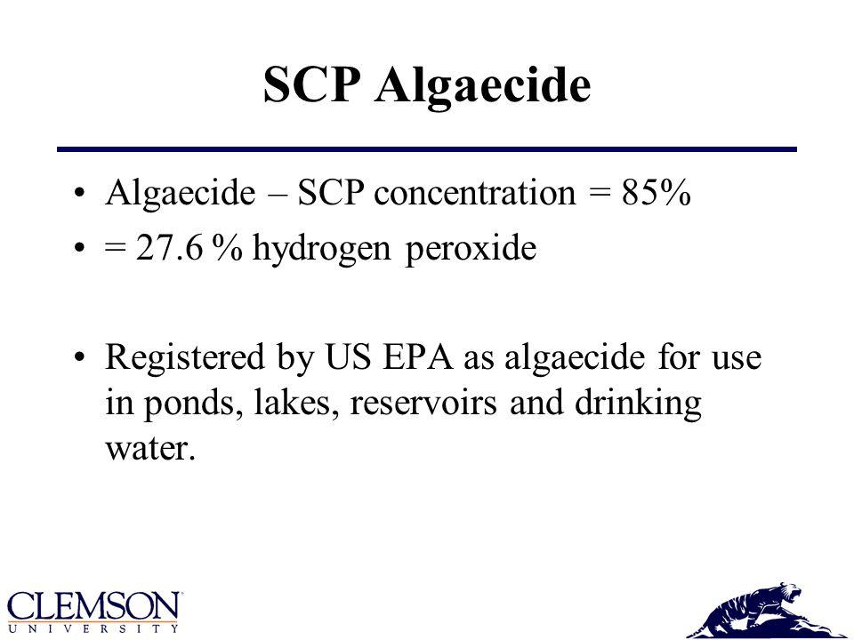 SCP Algaecide Algaecide – SCP concentration = 85%