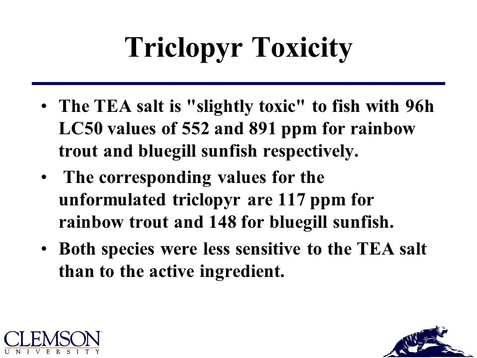 Triclopyr Toxicity