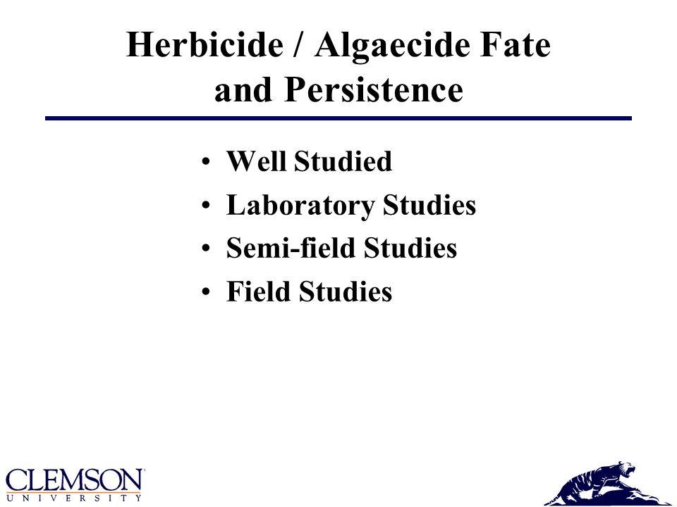 Herbicide / Algaecide Fate and Persistence