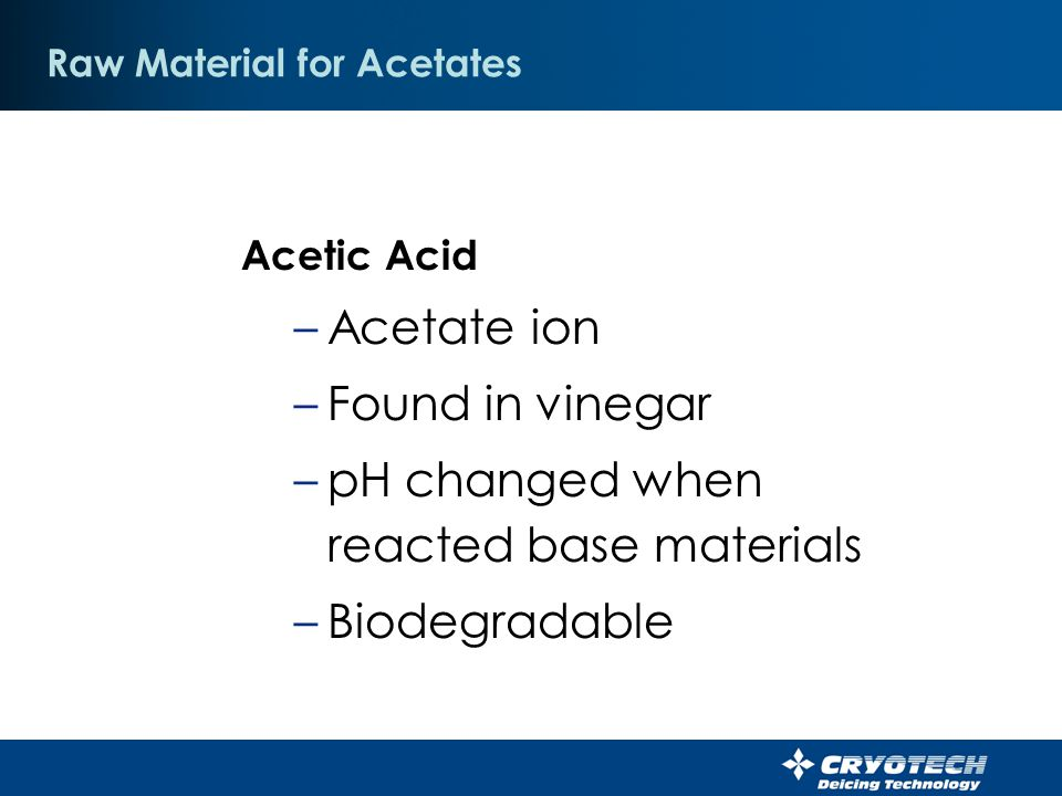 Raw Material for Acetates