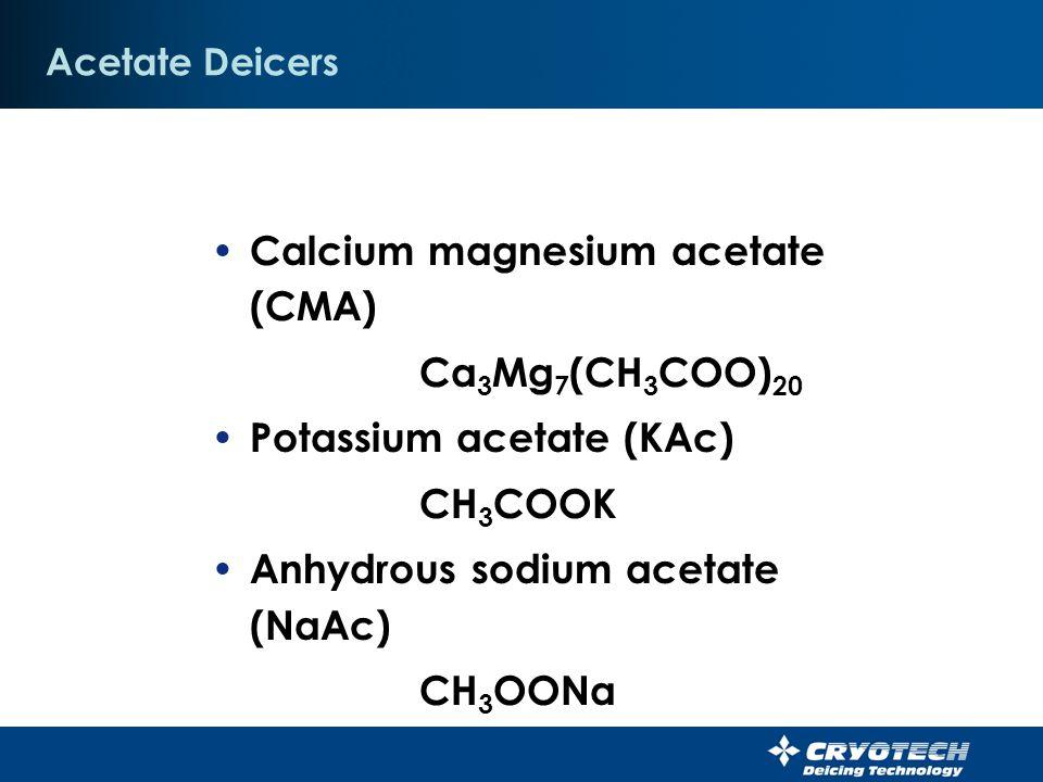 Calcium magnesium acetate (CMA) Ca3Mg7(CH3COO)20