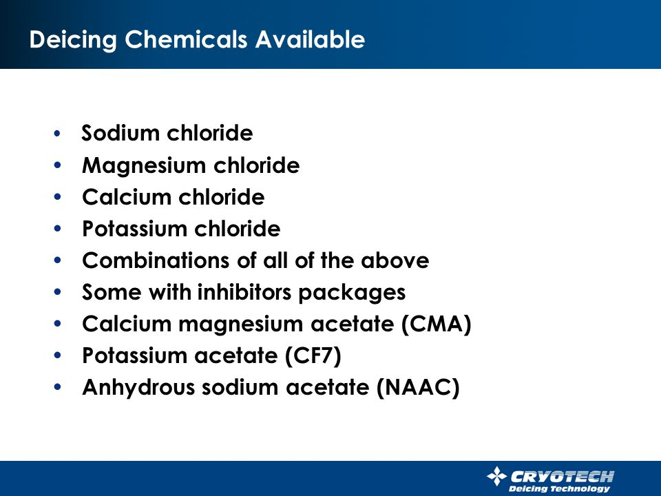 Deicing Chemicals Available