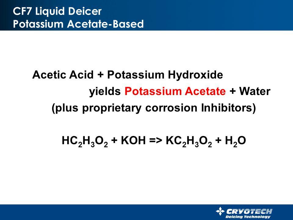 CF7 Liquid Deicer Potassium Acetate-Based