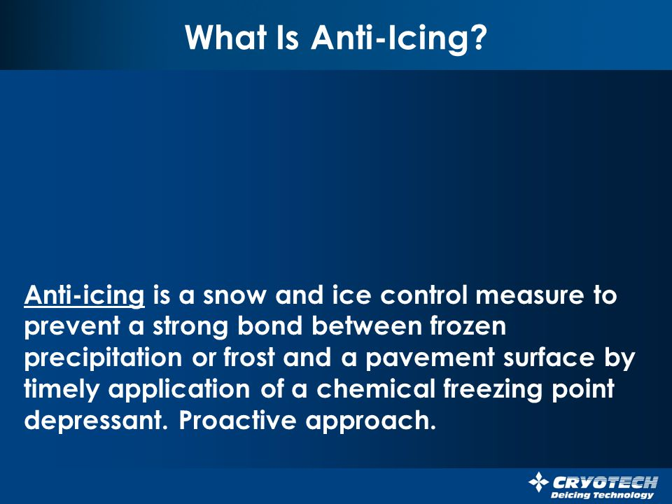 What Is Anti-Icing