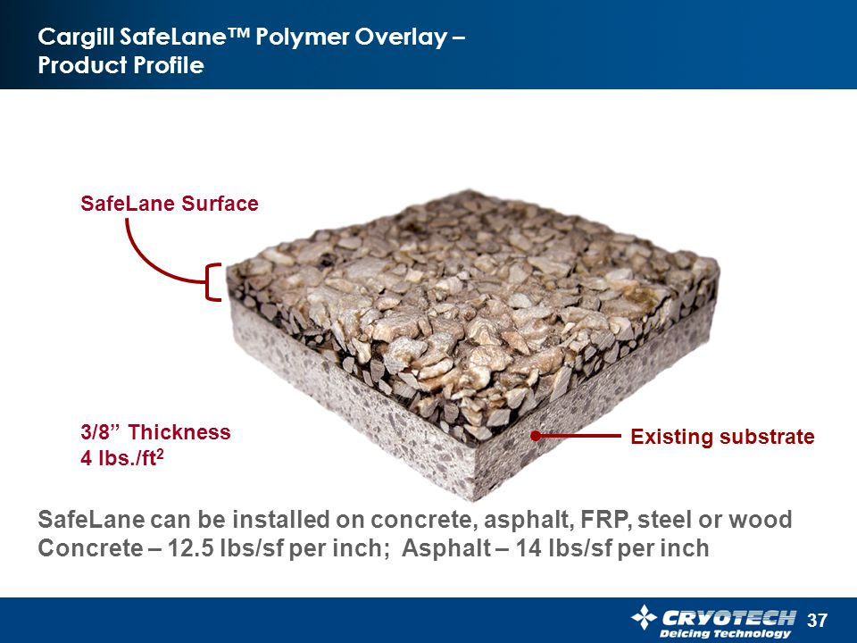 Cargill SafeLane™ Polymer Overlay – Product Profile