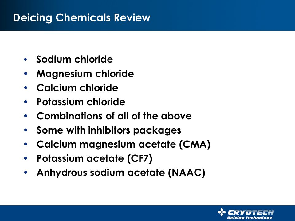 Deicing Chemicals Review