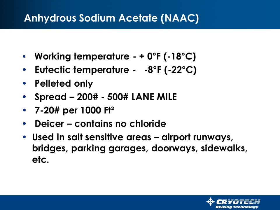 Anhydrous Sodium Acetate (NAAC)