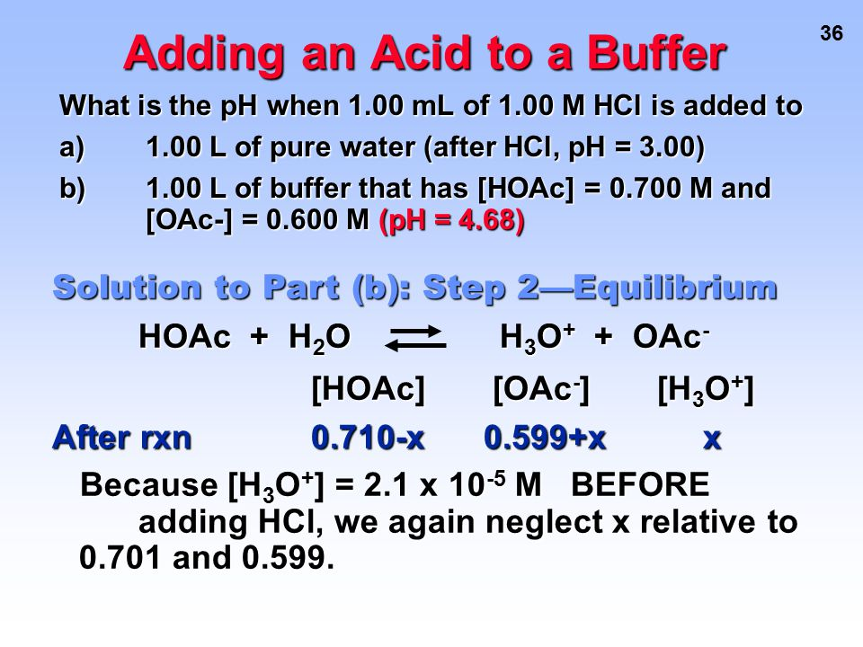 Adding an Acid to a Buffer