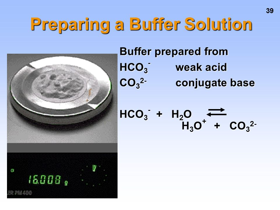 Preparing a Buffer Solution