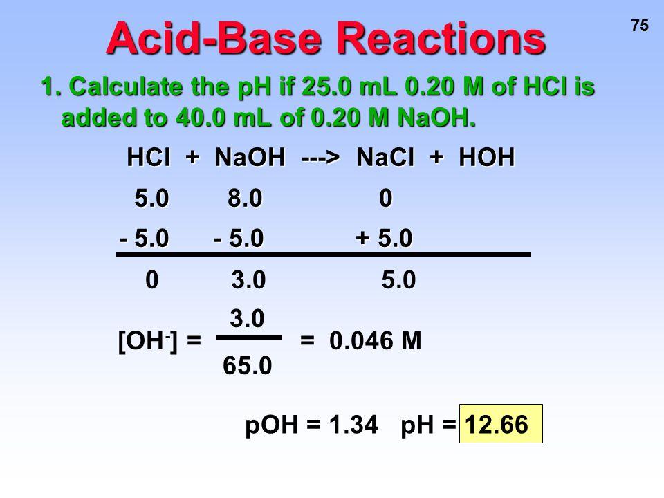 HCl + NaOH ---> NaCl + HOH