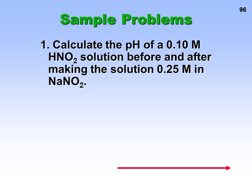 Sample Problems 1.