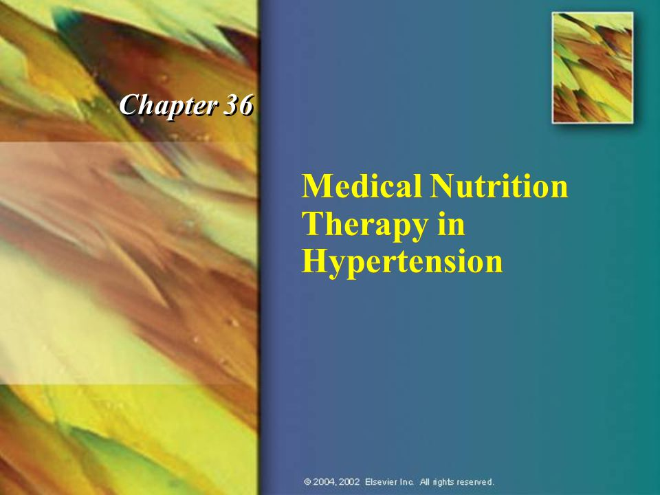 Medical Nutrition Therapy in Hypertension