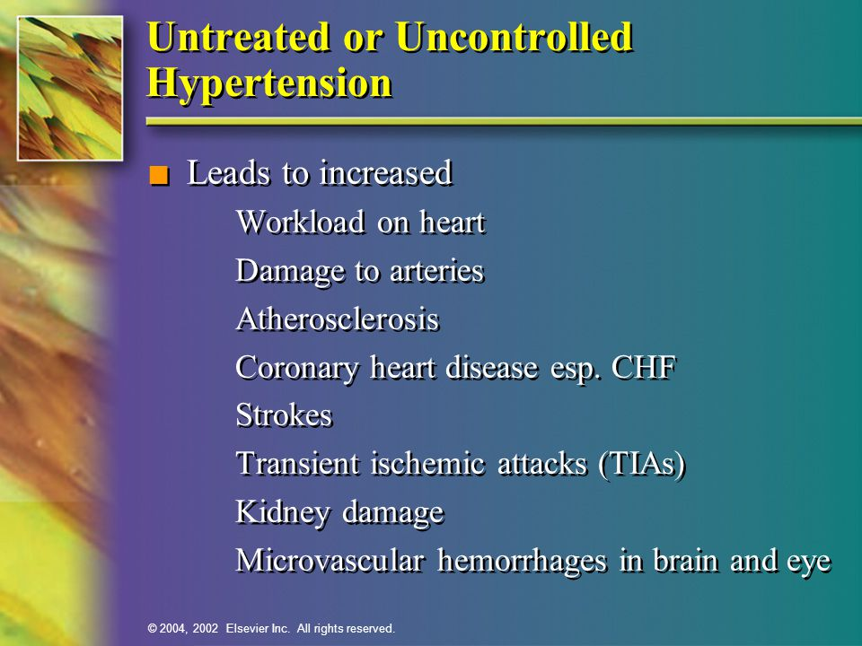 Untreated or Uncontrolled Hypertension