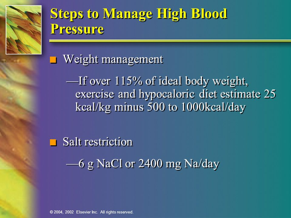 Steps to Manage High Blood Pressure