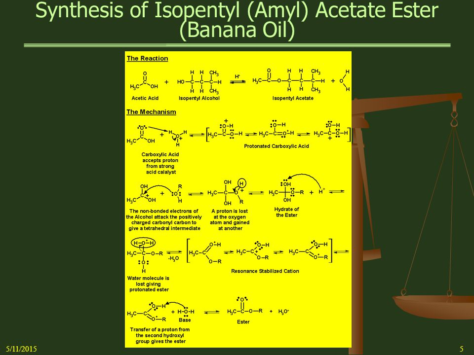 Synthesis of Isopentyl (Amyl) Acetate Ester (Banana Oil)