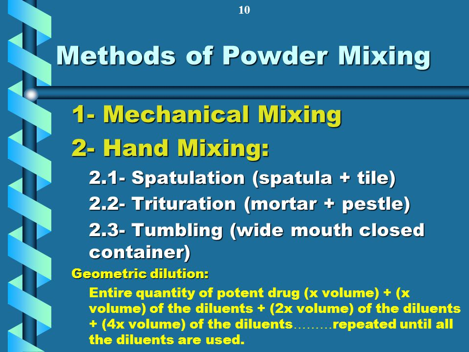 Methods of Powder Mixing