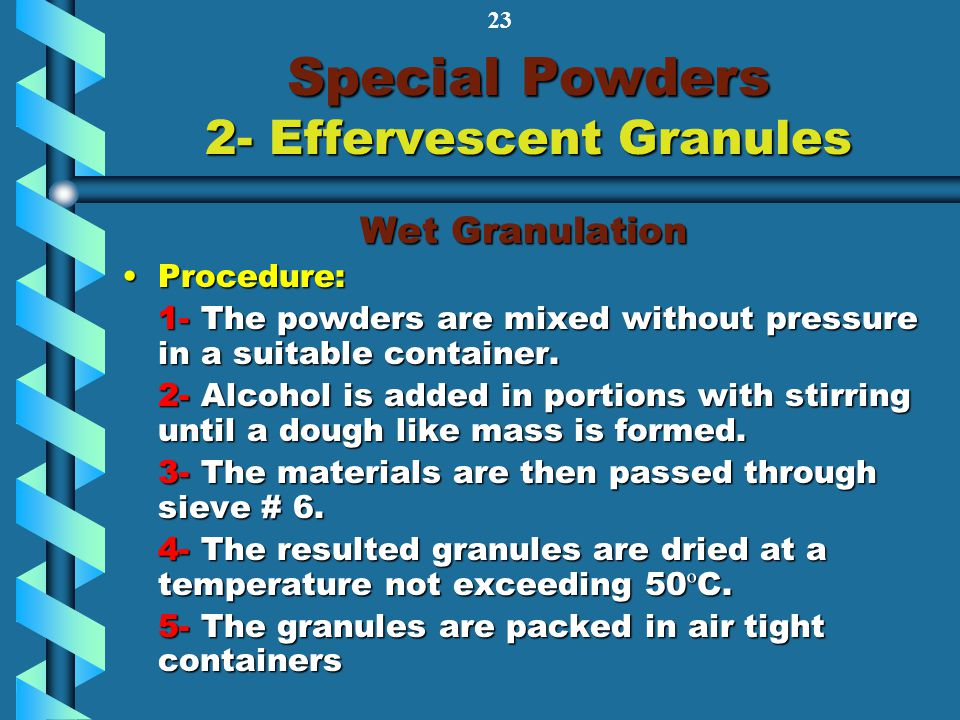 Special Powders 2- Effervescent Granules