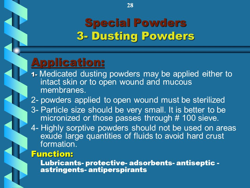 Special Powders 3- Dusting Powders