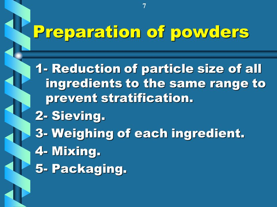 Preparation of powders