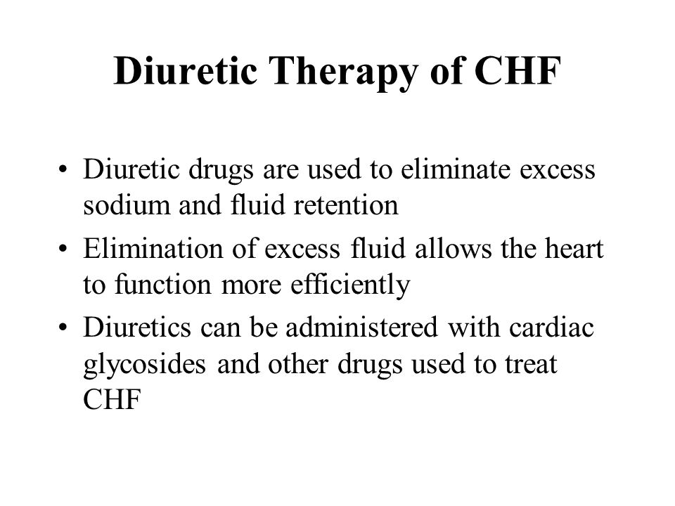 Diuretic Therapy of CHF