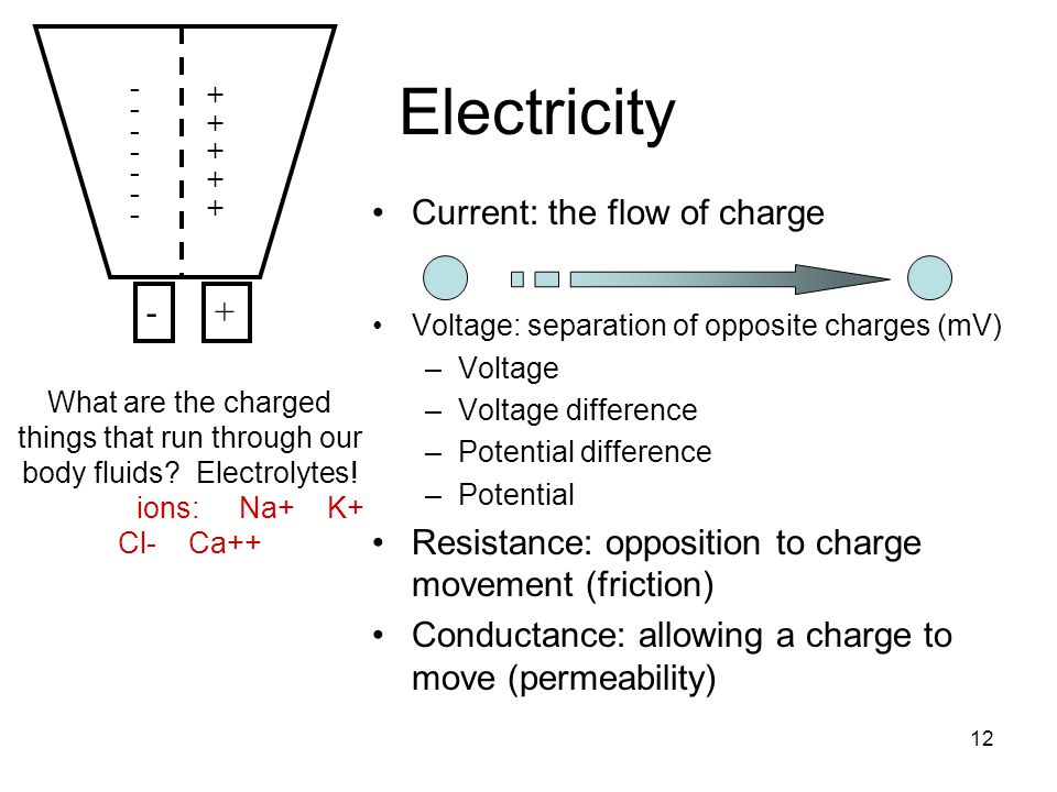 Electricity Current: the flow of charge -
