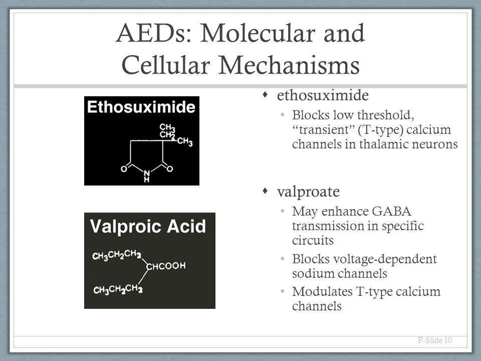 AEDs: Molecular and Cellular Mechanisms