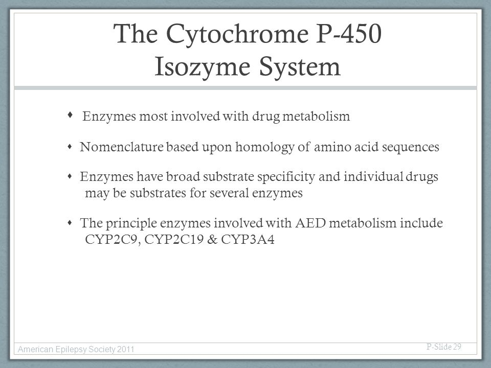 The Cytochrome P-450 Isozyme System