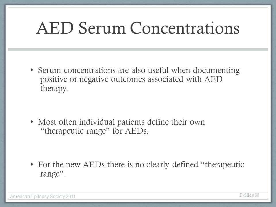 AED Serum Concentrations
