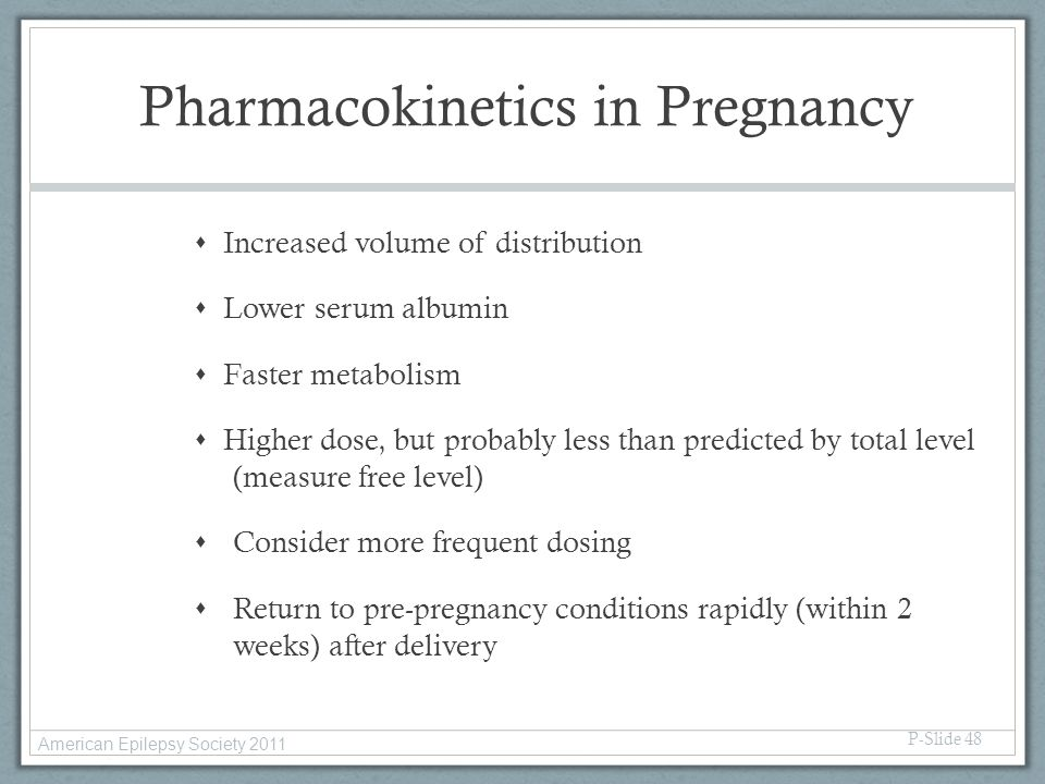 Pharmacokinetics in Pregnancy