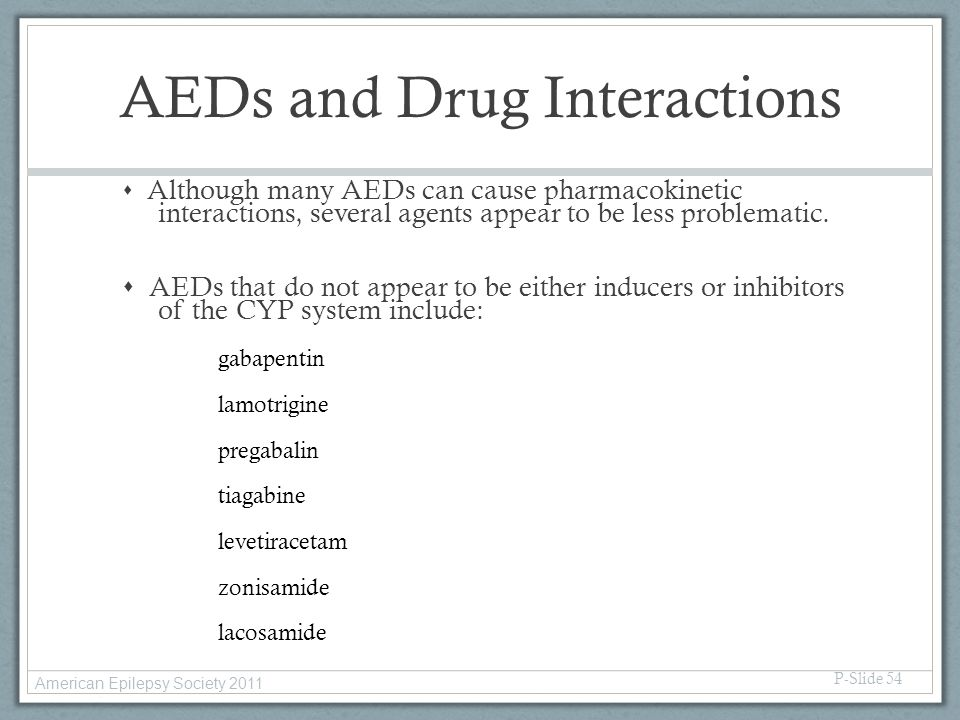 AEDs and Drug Interactions