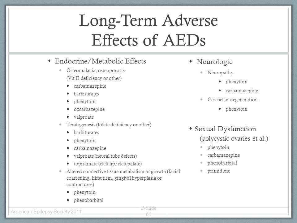 Long-Term Adverse Effects of AEDs