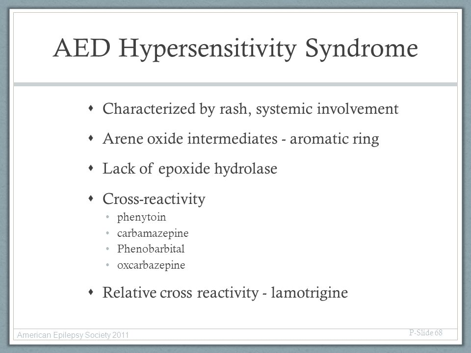 AED Hypersensitivity Syndrome