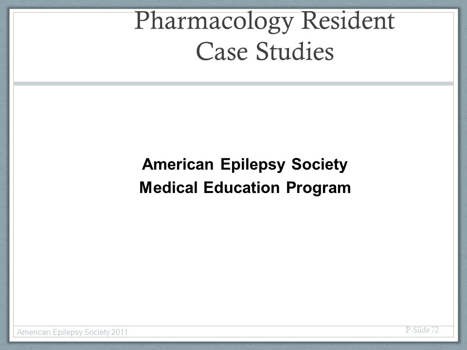 Pharmacology Resident Case Studies