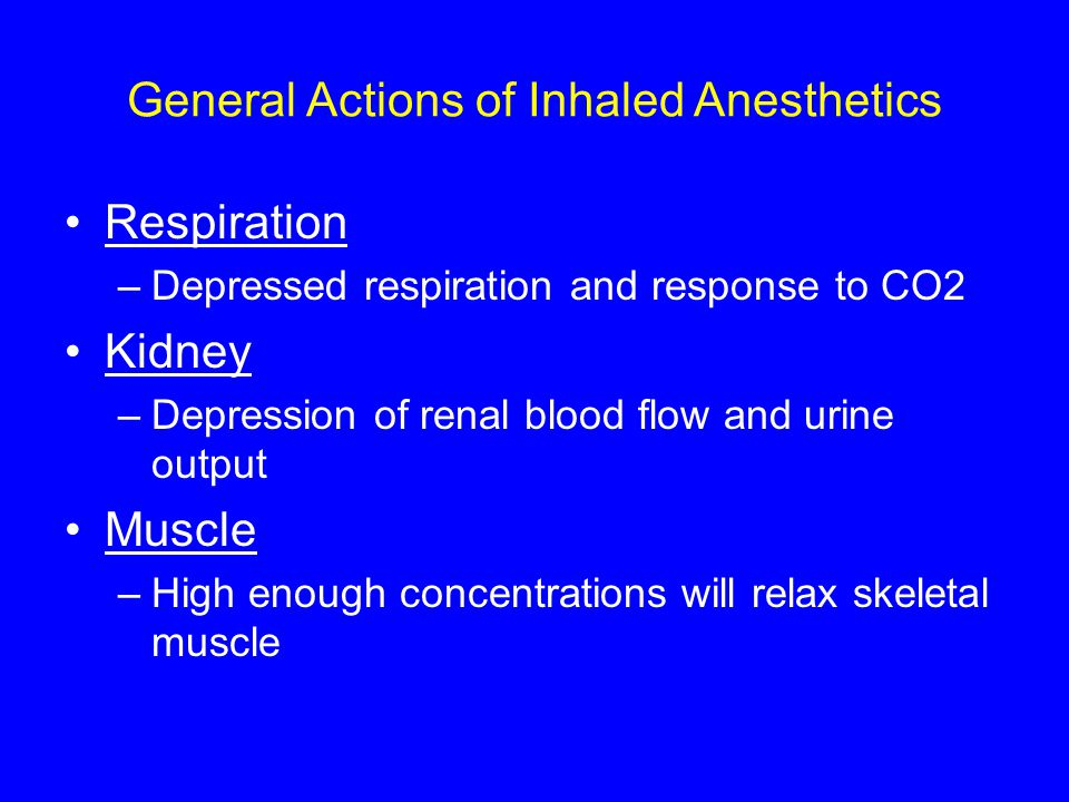 General Actions of Inhaled Anesthetics
