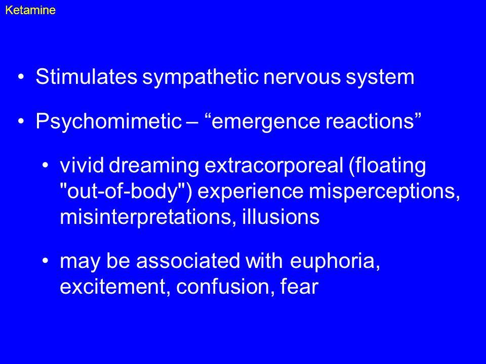 Stimulates sympathetic nervous system