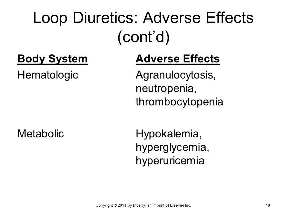 Loop Diuretics: Adverse Effects (cont'd)