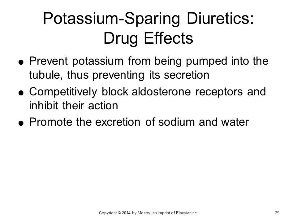 Potassium-Sparing Diuretics: Drug Effects