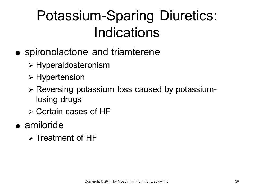 Potassium-Sparing Diuretics: Indications