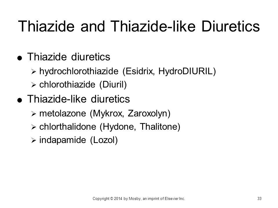 Thiazide and Thiazide-like Diuretics