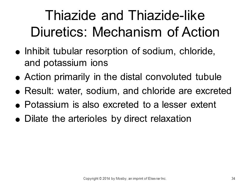 Thiazide and Thiazide-like Diuretics: Mechanism of Action
