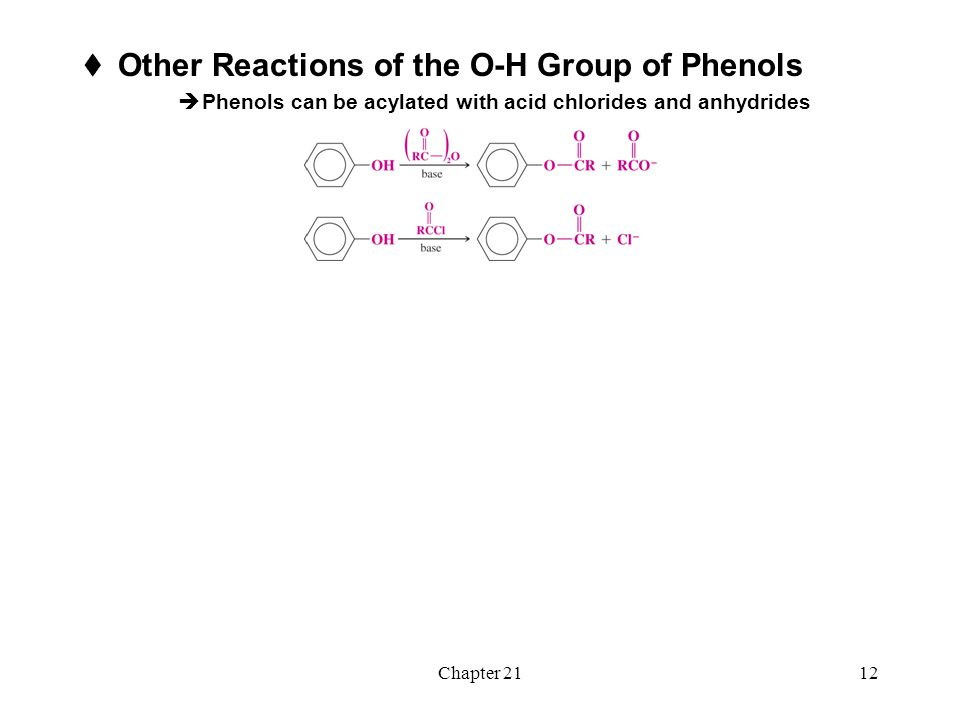 Other Reactions of the O-H Group of Phenols