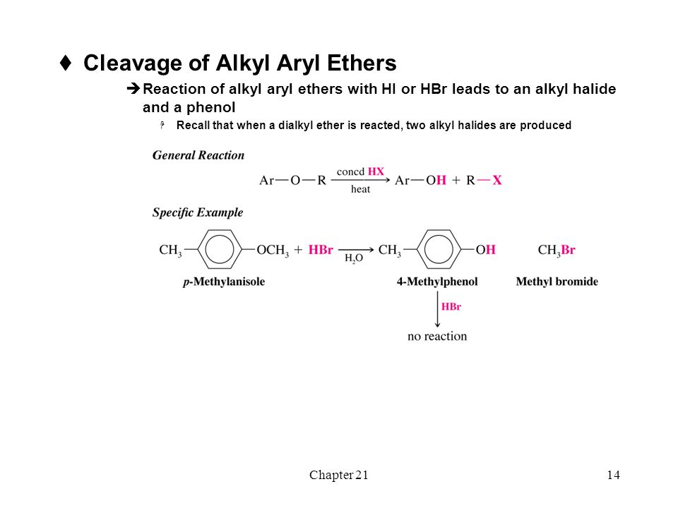 Cleavage of Alkyl Aryl Ethers