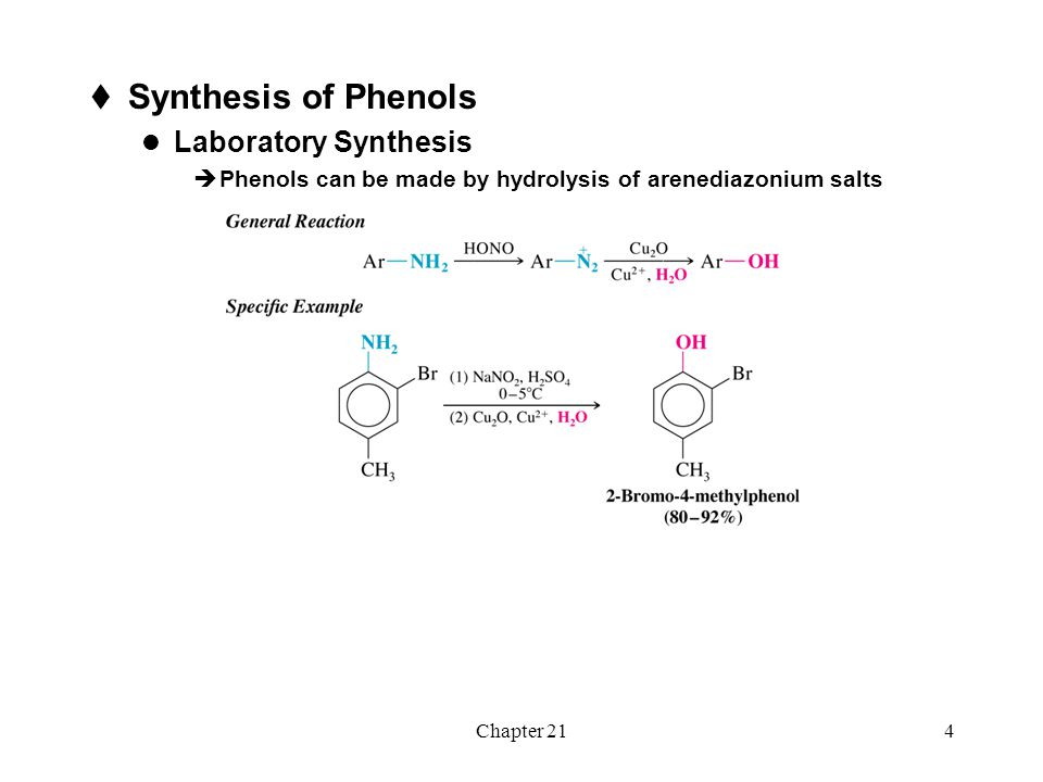Synthesis of Phenols Laboratory Synthesis