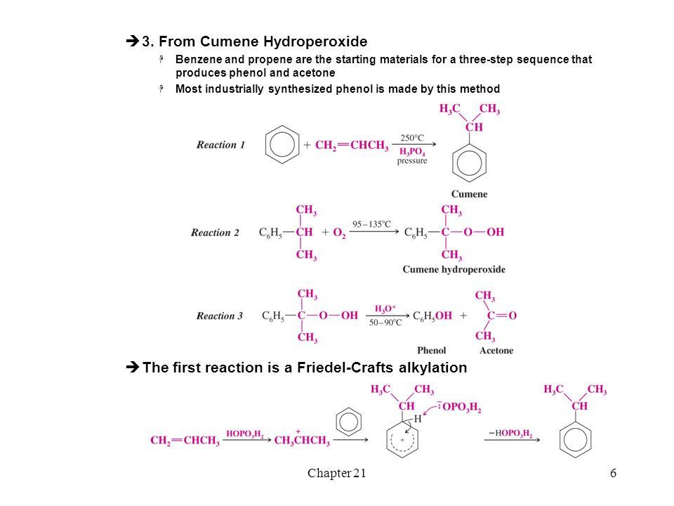 3. From Cumene Hydroperoxide