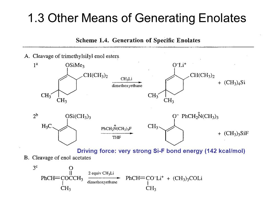 1.3 Other Means of Generating Enolates